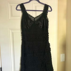 Betsey Johnson LBD with lace detailing